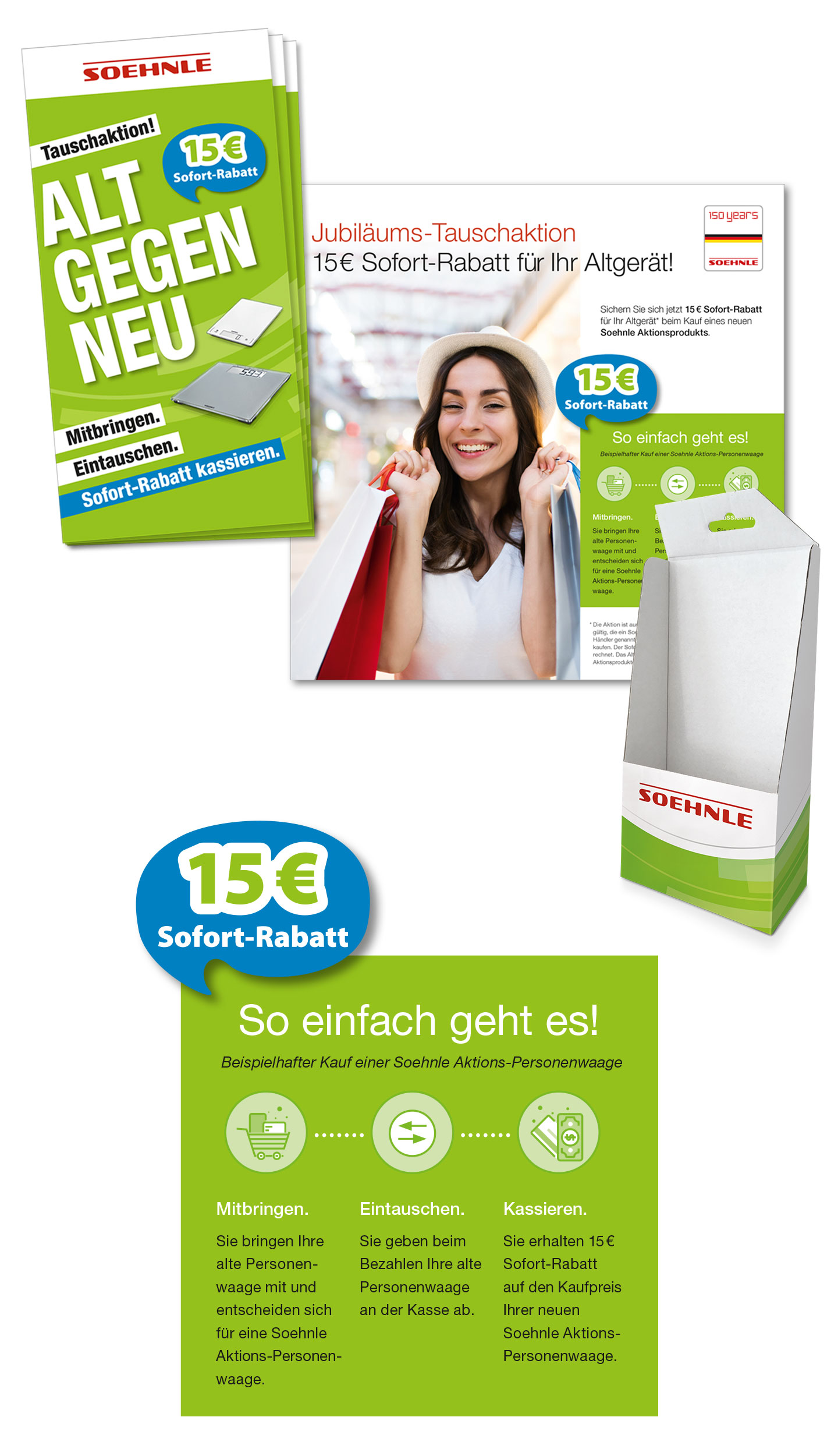 P12 Werbeagentur Referenz Soehnle Alt gegen Neu Kampagne 2018 Vermarktungstools Endverbraucherfolder