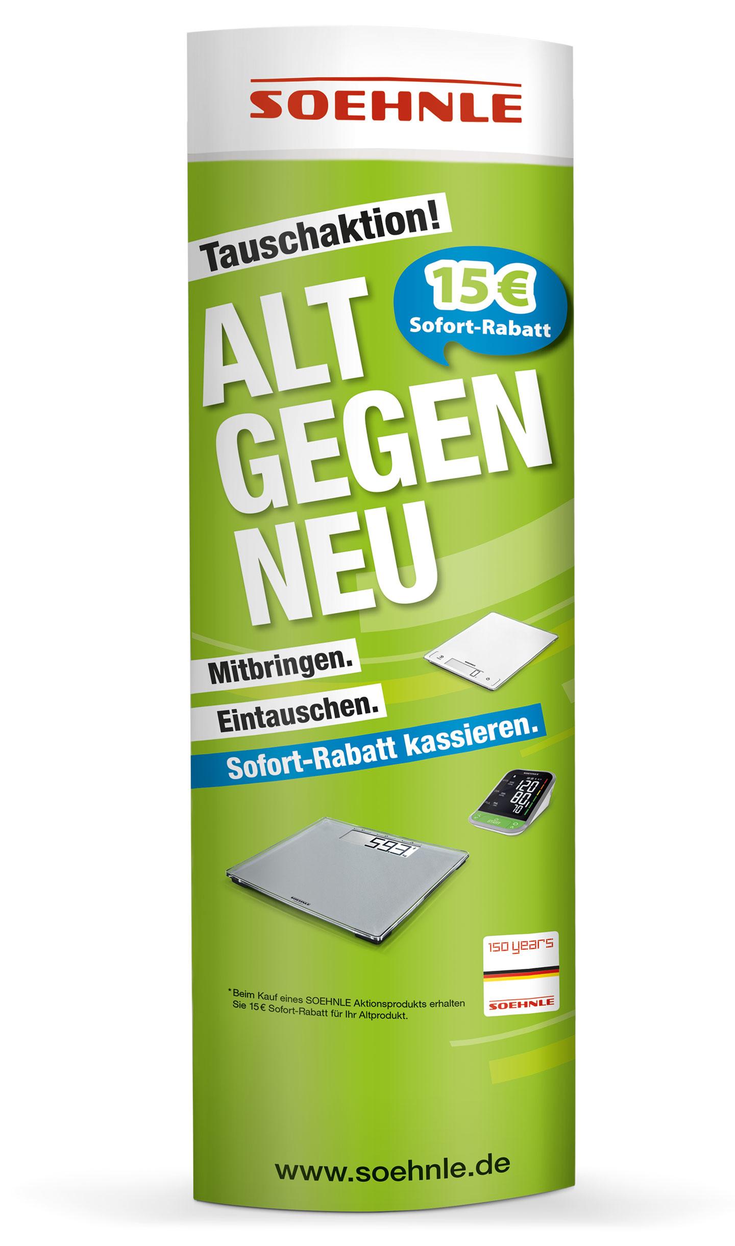 P12 Werbeagentur Referenz Soehnle Alt gegen Neu Kampagne 2018 Vermarktungstools POS Ellipse