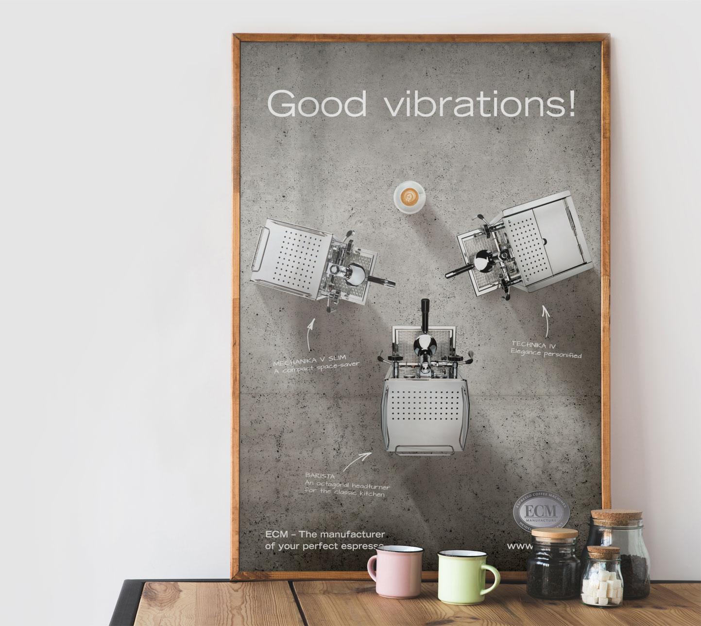P12 Werbeagentur Heidelberg Referenz ECM Produktposter Good Vibrations