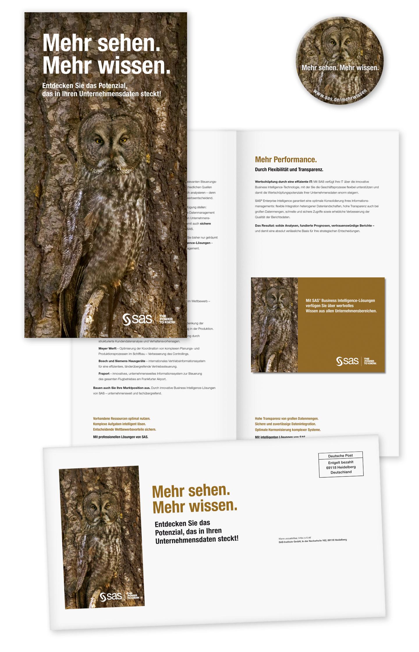 P12 Werbeagentur Heidelberg Referenz SAS Unternehmensweite Datenanalyse Mailing Stufe Eule