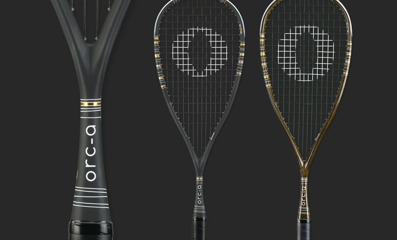 Squash Racketdesign ORCA-Black Serie