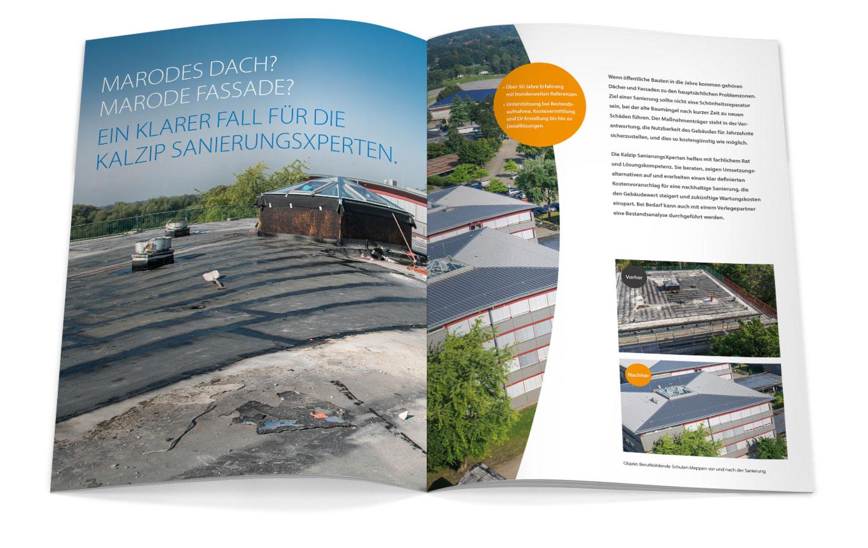P12 Werbeagentur Heidelberg Referenz KALZIP Ratgeber Sanierung Innen