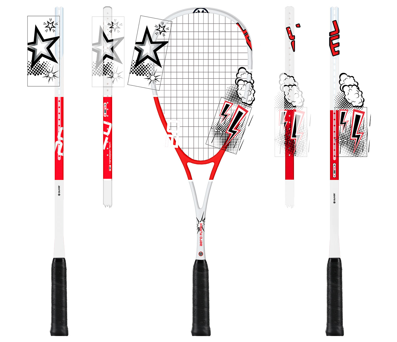 P12 Werbeagentur Heidelberg Referenz OLIVER Squash Racket Design Aero Comic