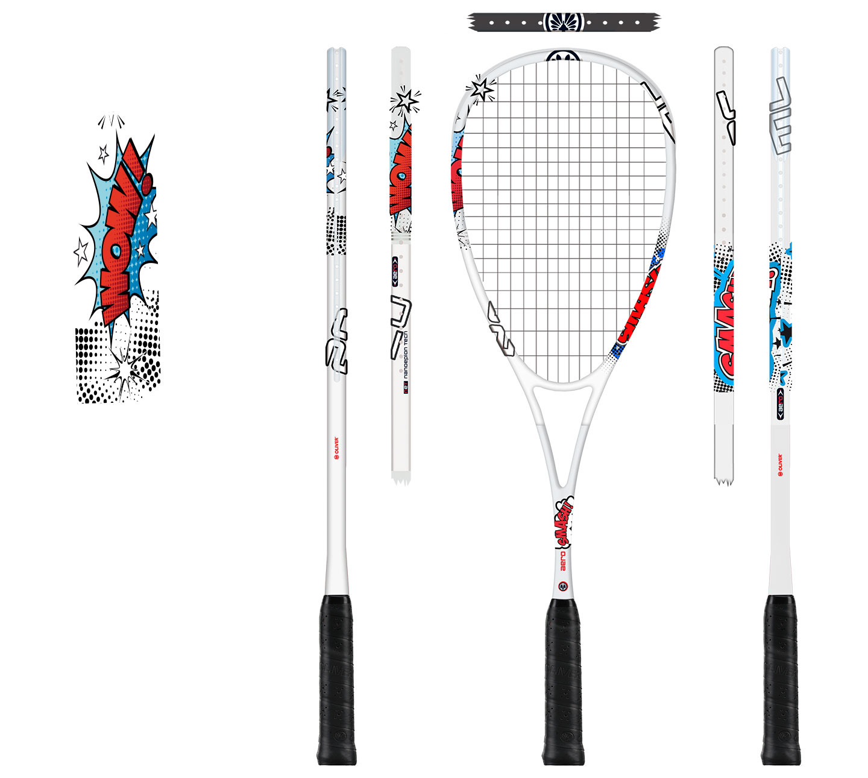 P12 Werbeagentur Heidelberg Referenz OLIVER Squash Racket Design Aero Smash