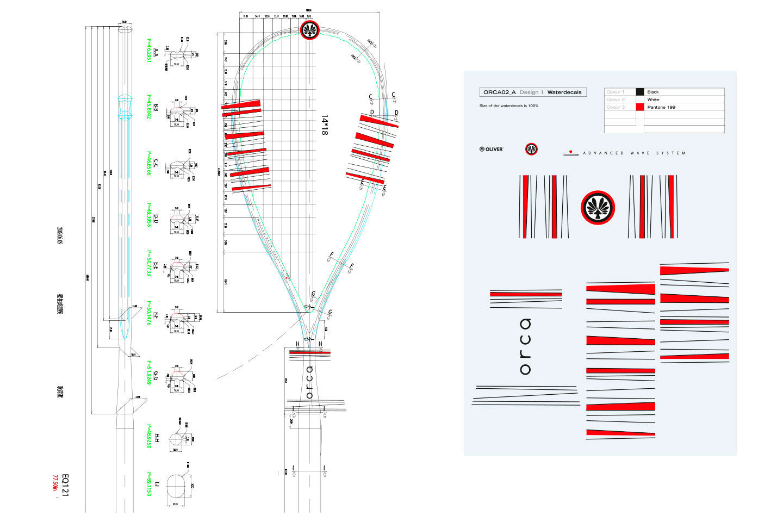 P12 Werbeagentur Heidelberg Referenz OLIVER Squash Racket Design Orca Aufbau