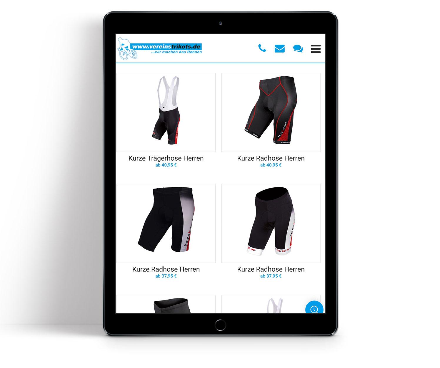 P12 Werbeagentur Heidelberg Referenz-Website-Vereinstrikots Shop tablet01 mobile