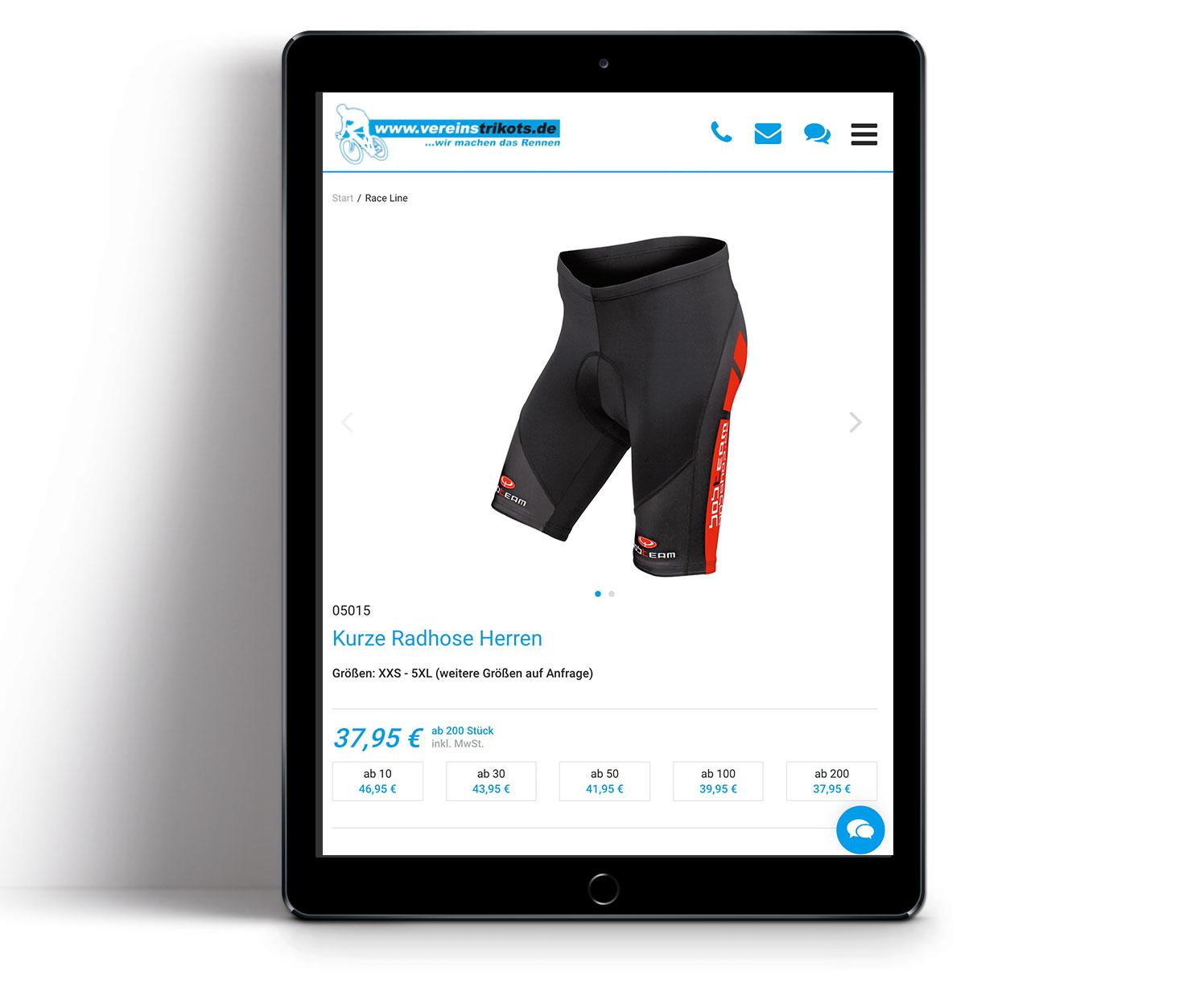 P12-Werbeagentur Heidelberg Referenz-Website-Vereinstrikots Shop tablet02 mobile