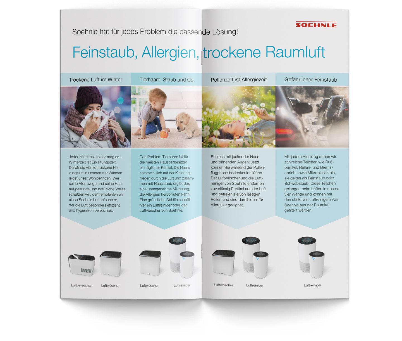 P12 Werbeagentur Heidelberg Referenz SOEHNLE EV Folder Airfresh Inhalt