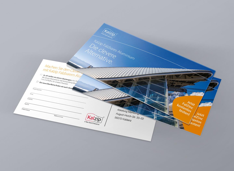 P12-Werbeagentur Heidelberg Referenz KALZIP Mailing für Mittelstand