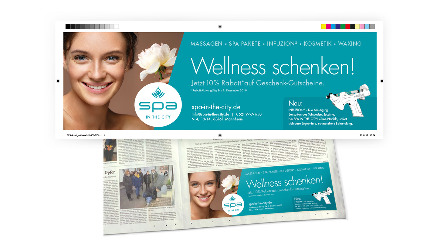 P12-Werbeagentur Referenz Spa-in-the-City MannheimerMorgen Anzeige