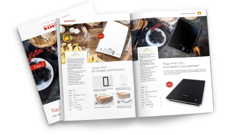 P12-Werbeagentur Soehnle Fotokonzept Kuechenwaagen Anwendung Katalog 13