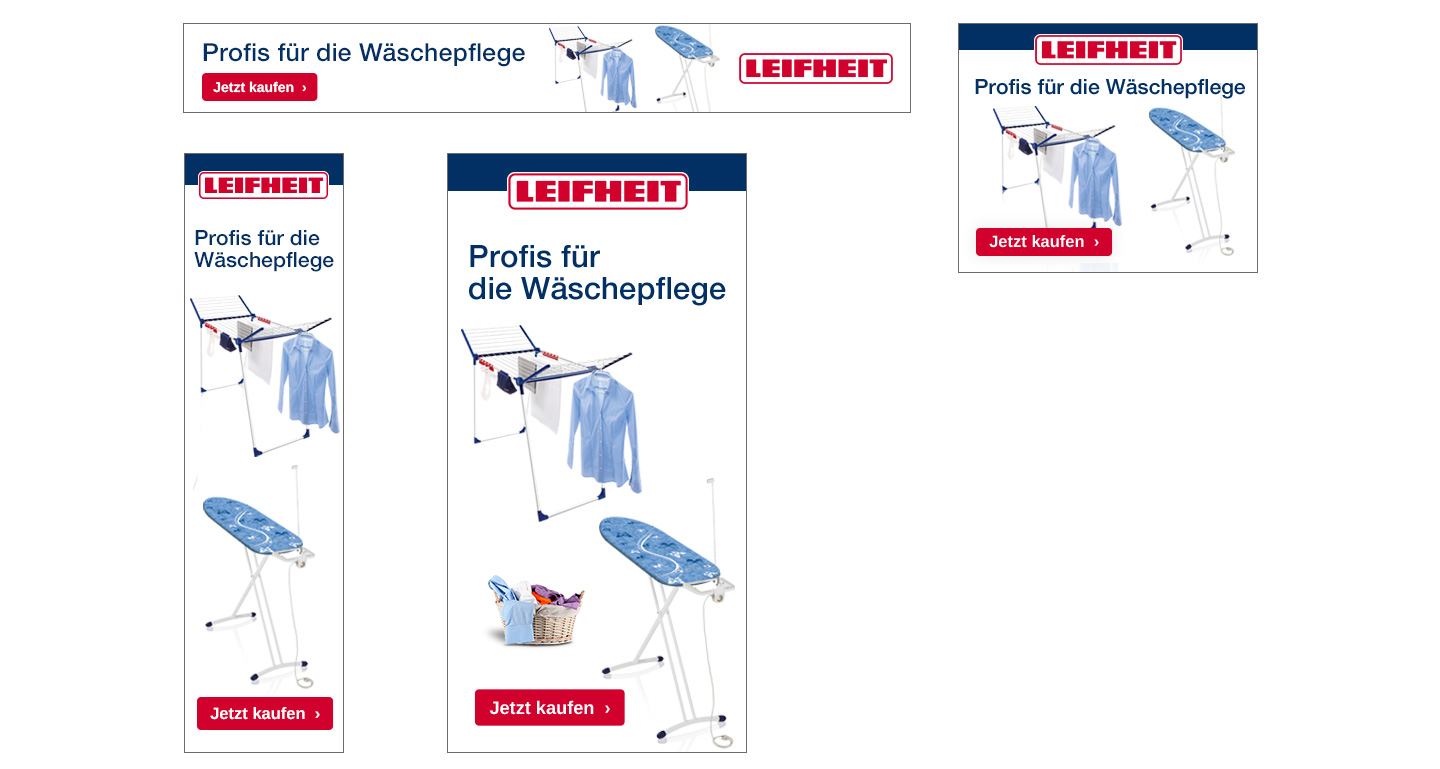 P12-Werbeagentur Social-MediaContentCreation Event LEIFHEIT B2C-Banner-ADs