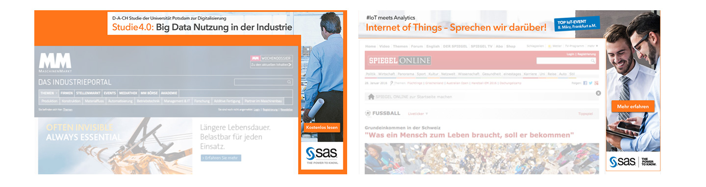 P12-Werbeagentur Social-Media Content Creation Event SAS B2B IoT-Banner Advertising