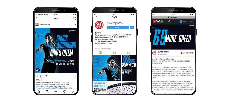 P12-Werbeagentur bei Heidelberg ertellt Social-Media Content Creation für Oliver-Sport