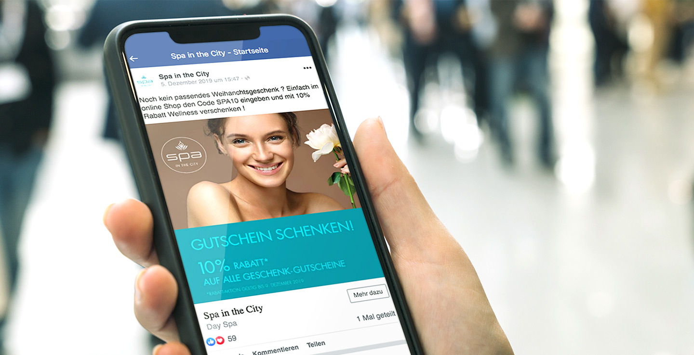 P12-Werbeagentur bei Heidelberg SocialMedia Content Creation SPA-Wellness Aktion Gutschein bei Facebook