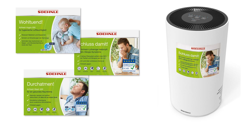 P12-Werbeagentur Soehnle POS Produkt-Sticker Airfresh