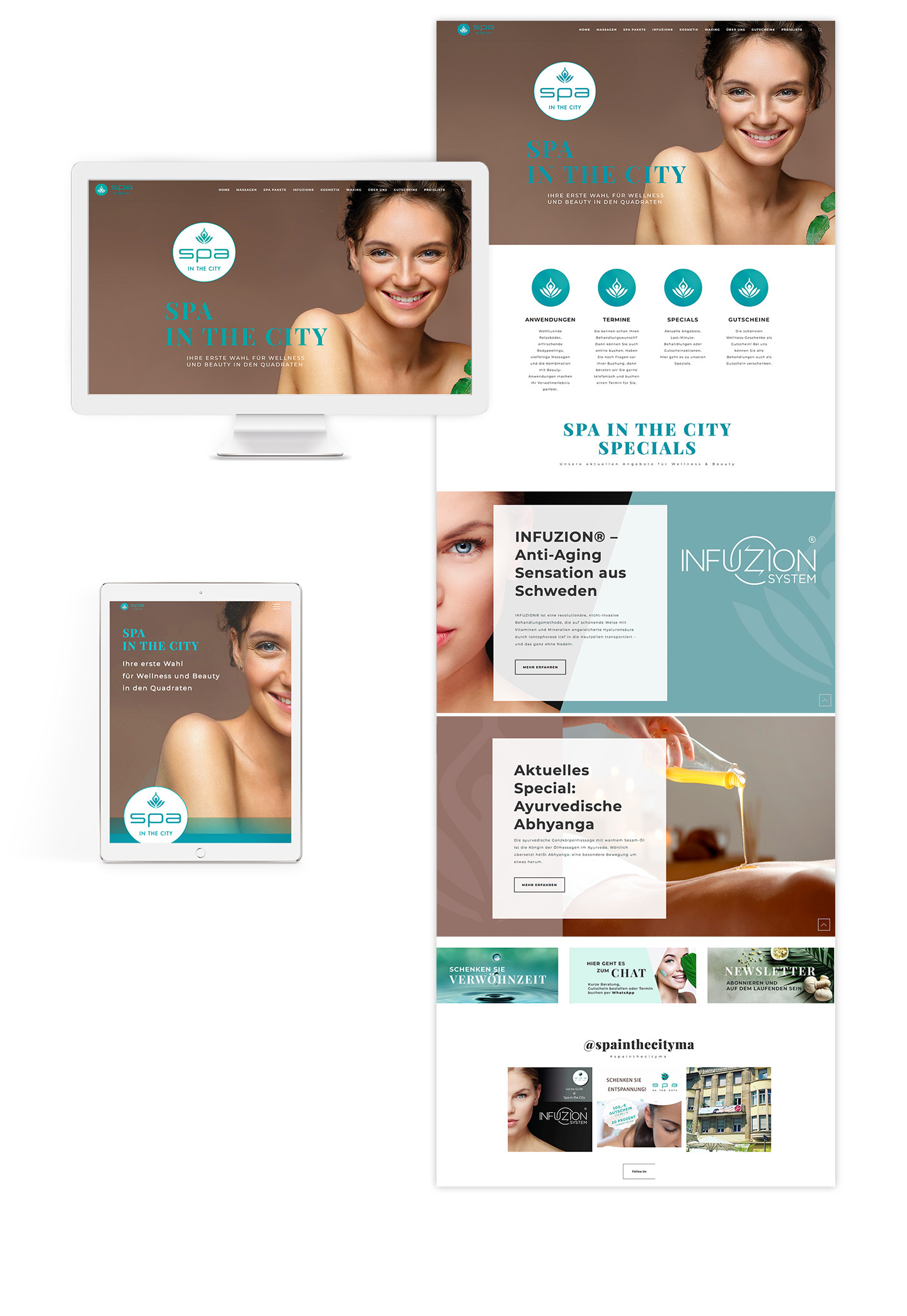 P12-Werbeagentur Webdesign Referenz Spa-in-the-City in Manhheim